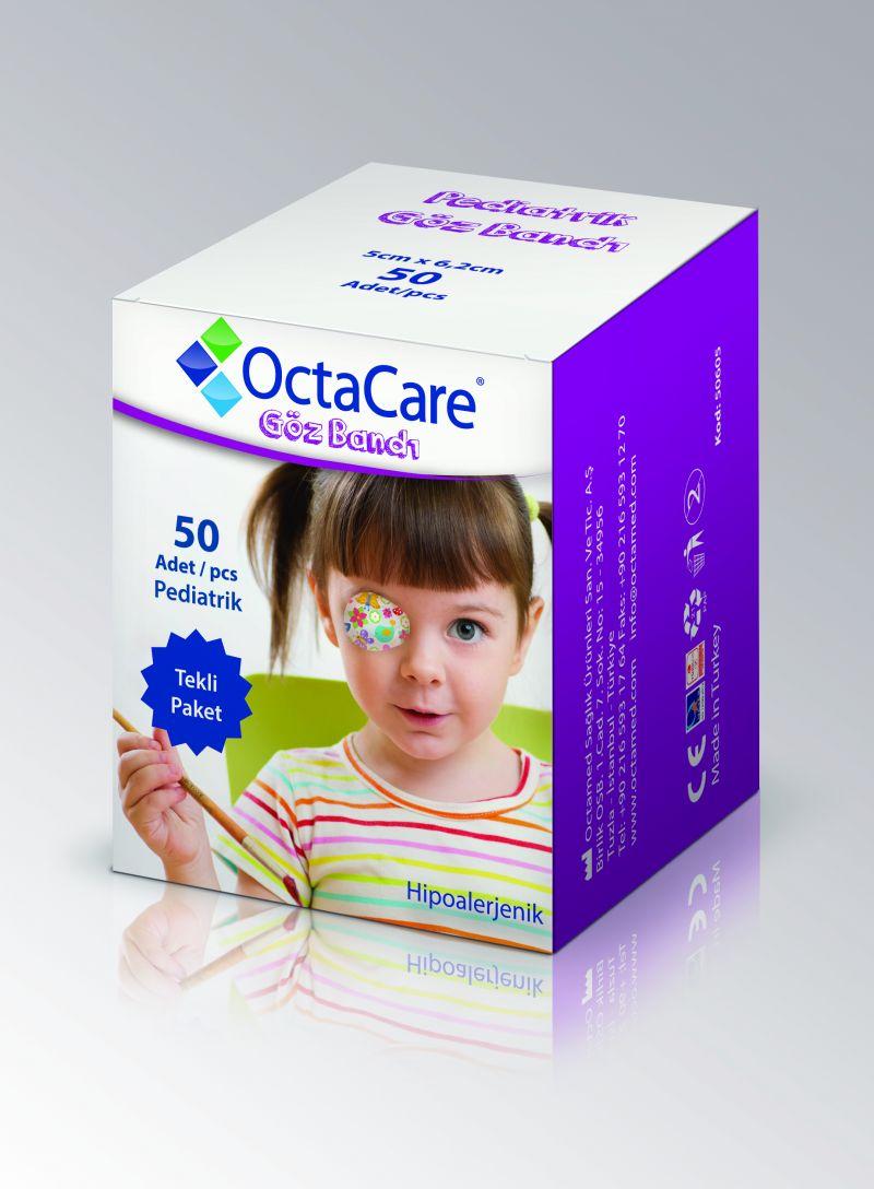 Plasturi oculari fete Octacare, 5*6,2 cm, 50 buc, OctaMed