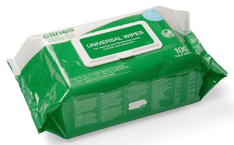 Lavete dezinfectante, 100 buc, Clinell